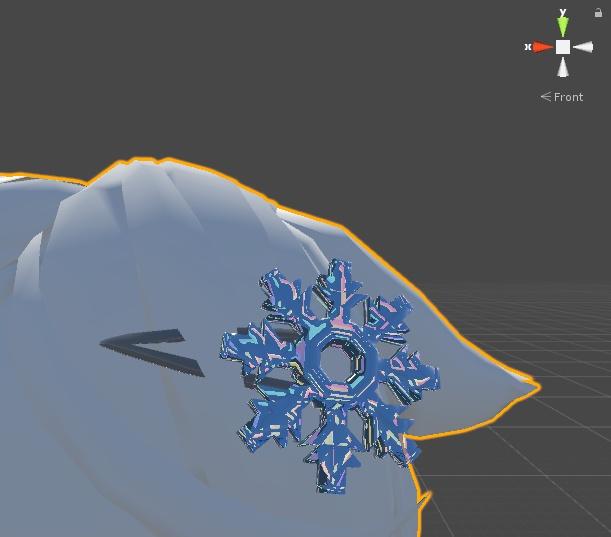氷の結晶ヘアピン