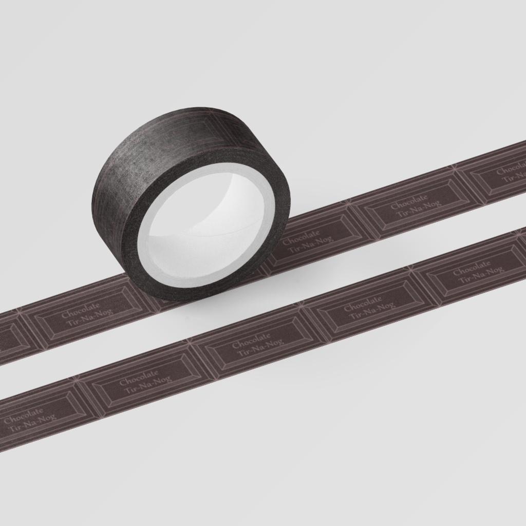 チョコレートのマスキングテープ 2色