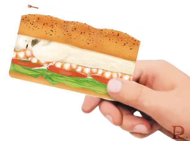 ICカードステッカー サンドイッチ
