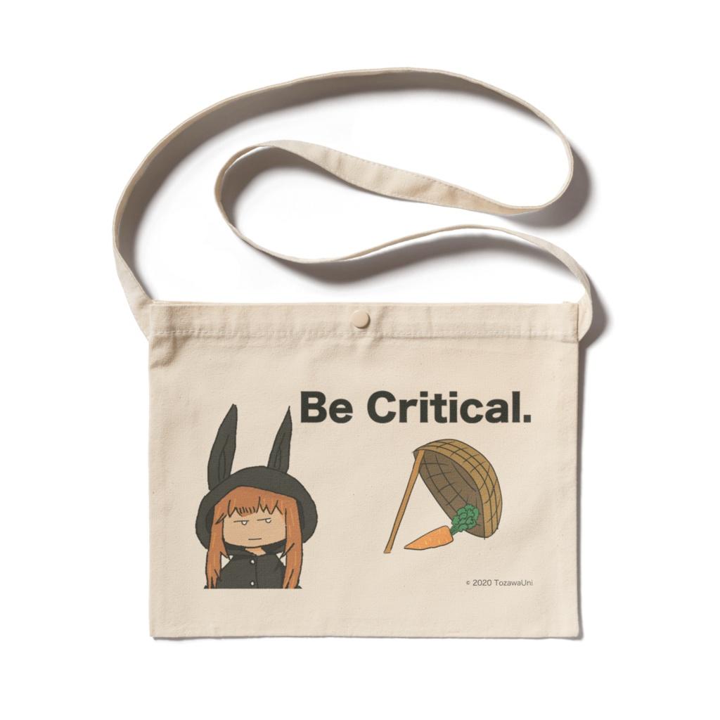 """兎沢ゆにオリジナルサコッシュ """"Be Critical"""""""