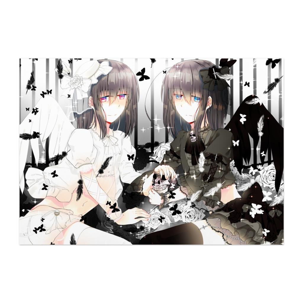 【オリジナル】ポスター【黒い天使と堕天使】