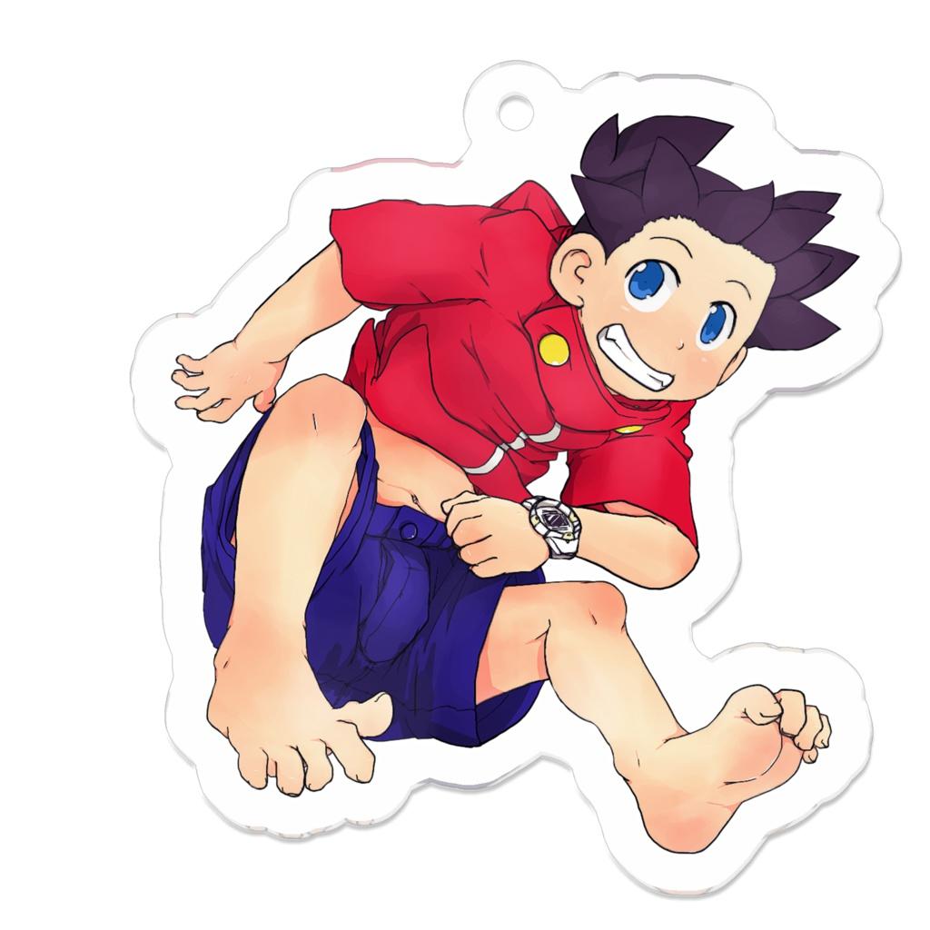 ぶらりんチョンマゲ少年(裸足)