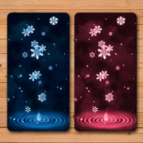 送料無料 【雪の雫モバイルバッテリー】受注生産