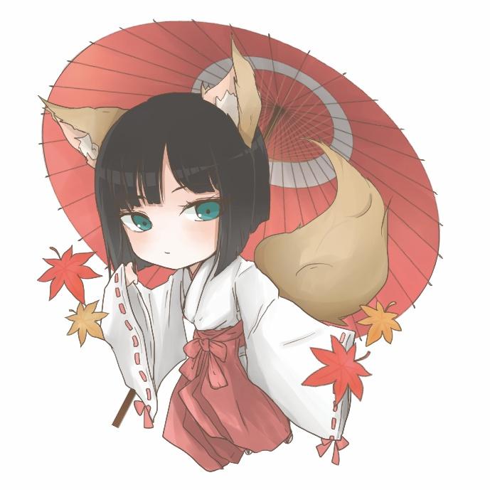 今結花(狐巫女)アクリルキーホルダー
