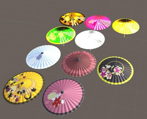 【VRCHAT用】和傘(開閉可能)【デスクトップ用アニメーション有り】