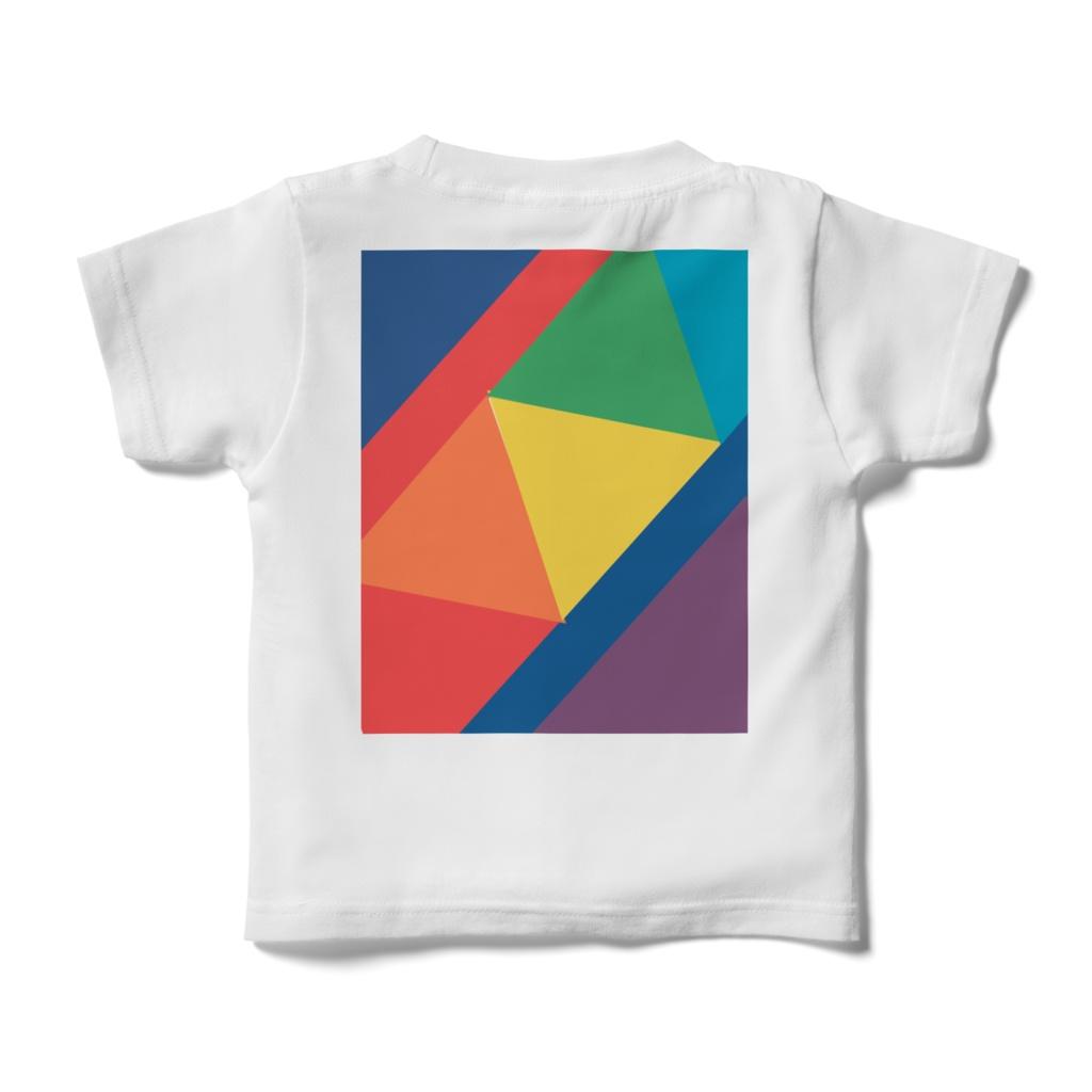 RAINBOW三角図kidsTシャツ
