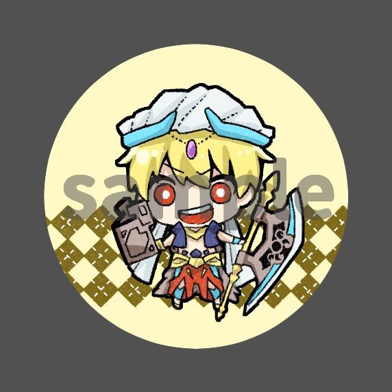 【ギルガメッシュ/キャスター】ミニ缶バッジ【バビロニア】