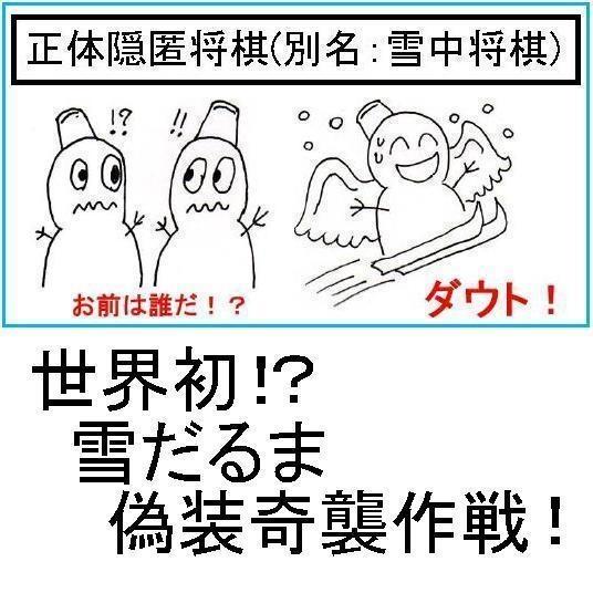 正体隠匿将棋(雪中将棋)(送料込み)