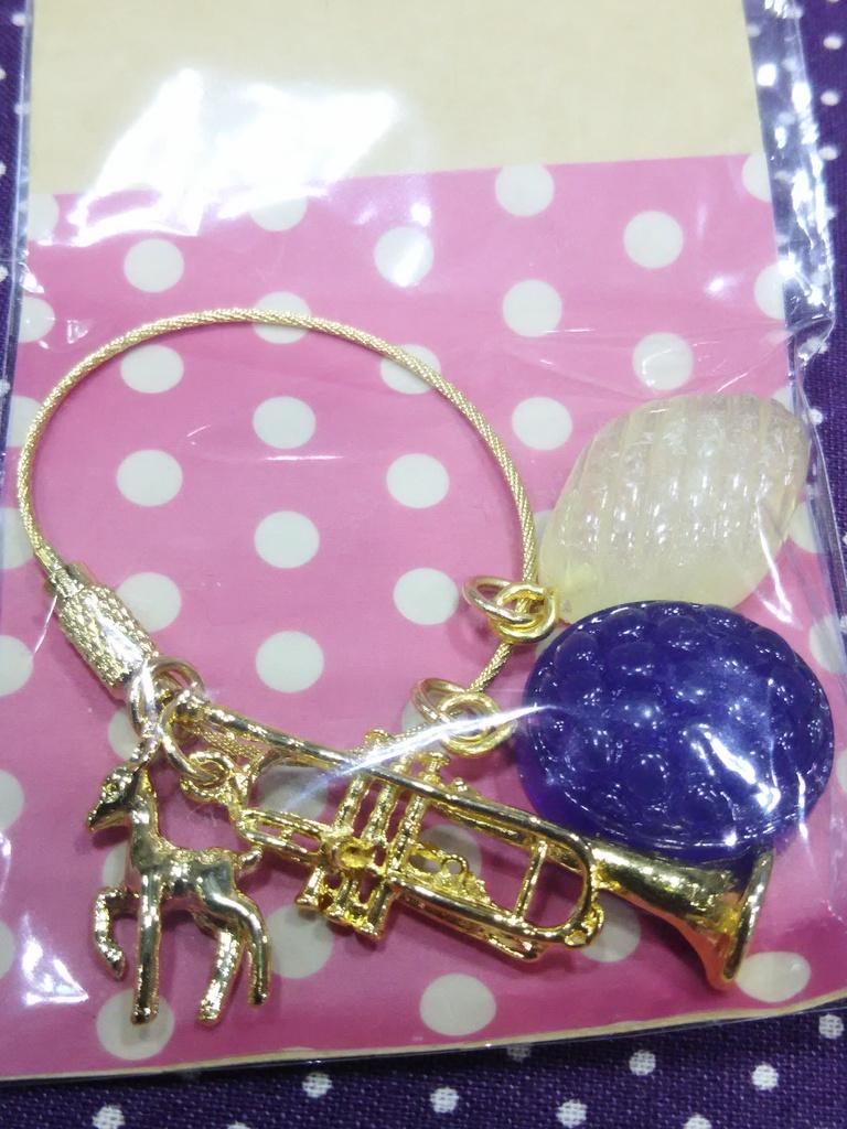 レジンドロップバッグチャーム(紫×白)