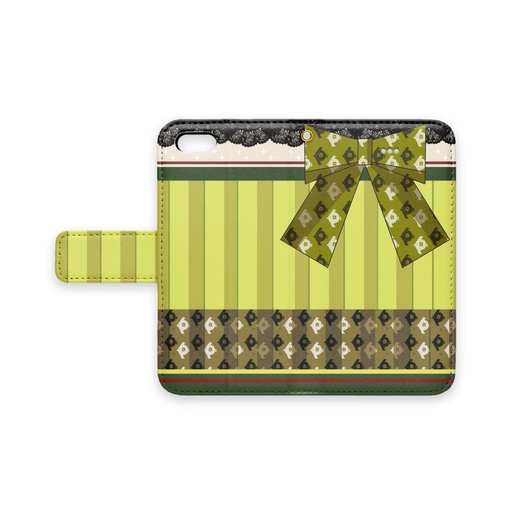 [pixiv factory製 iPhone用]瑞穂モチーフ手帳型スマホケース