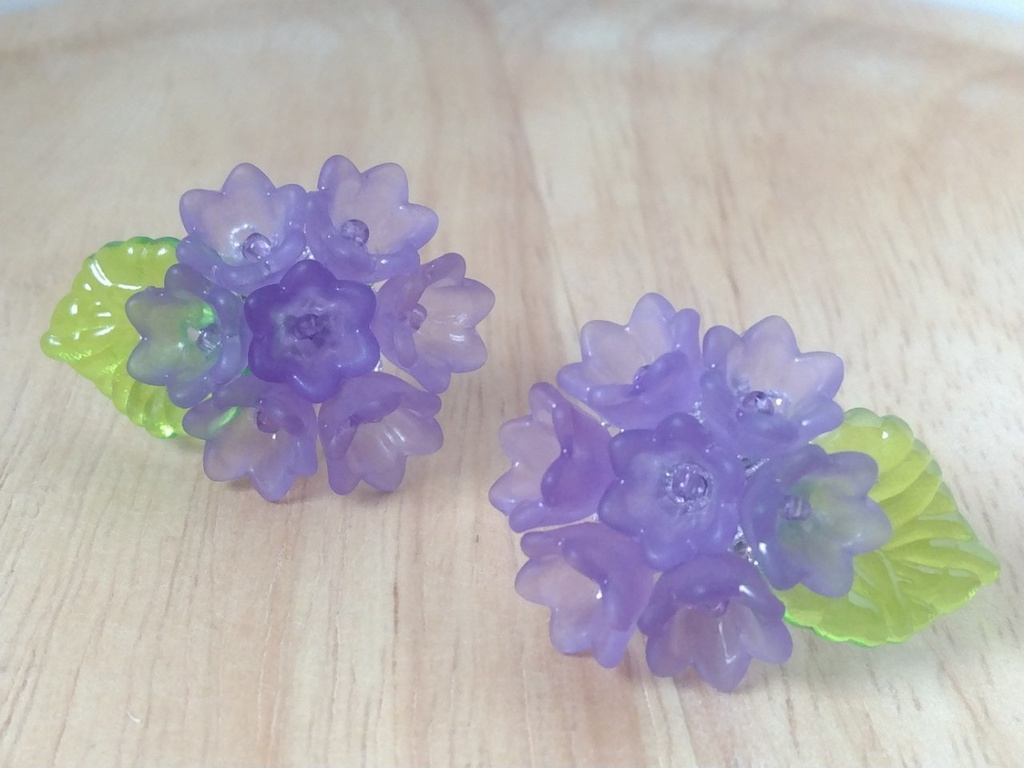 あじさい(紫)イヤリング