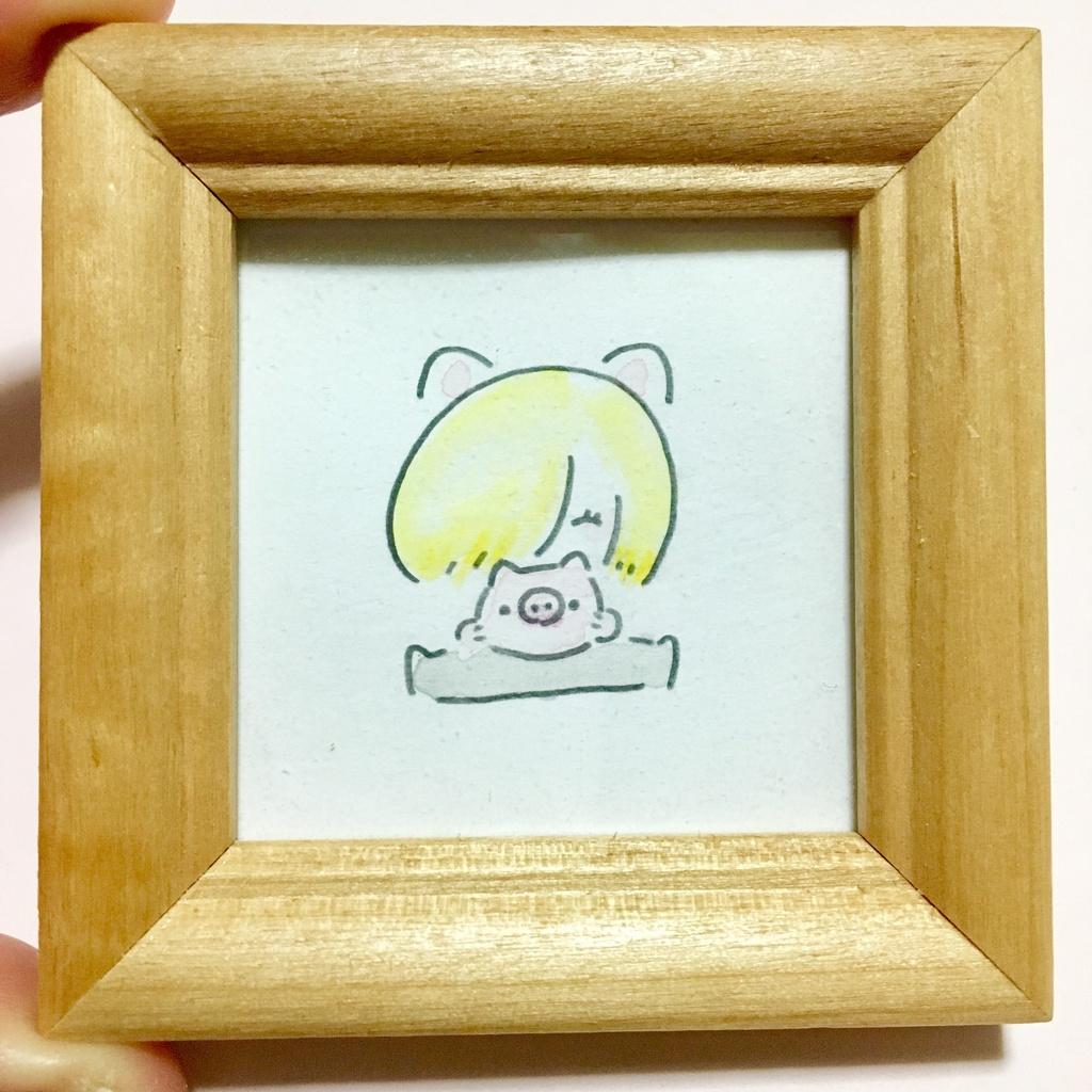 子豚とユーリのフレームイラスト