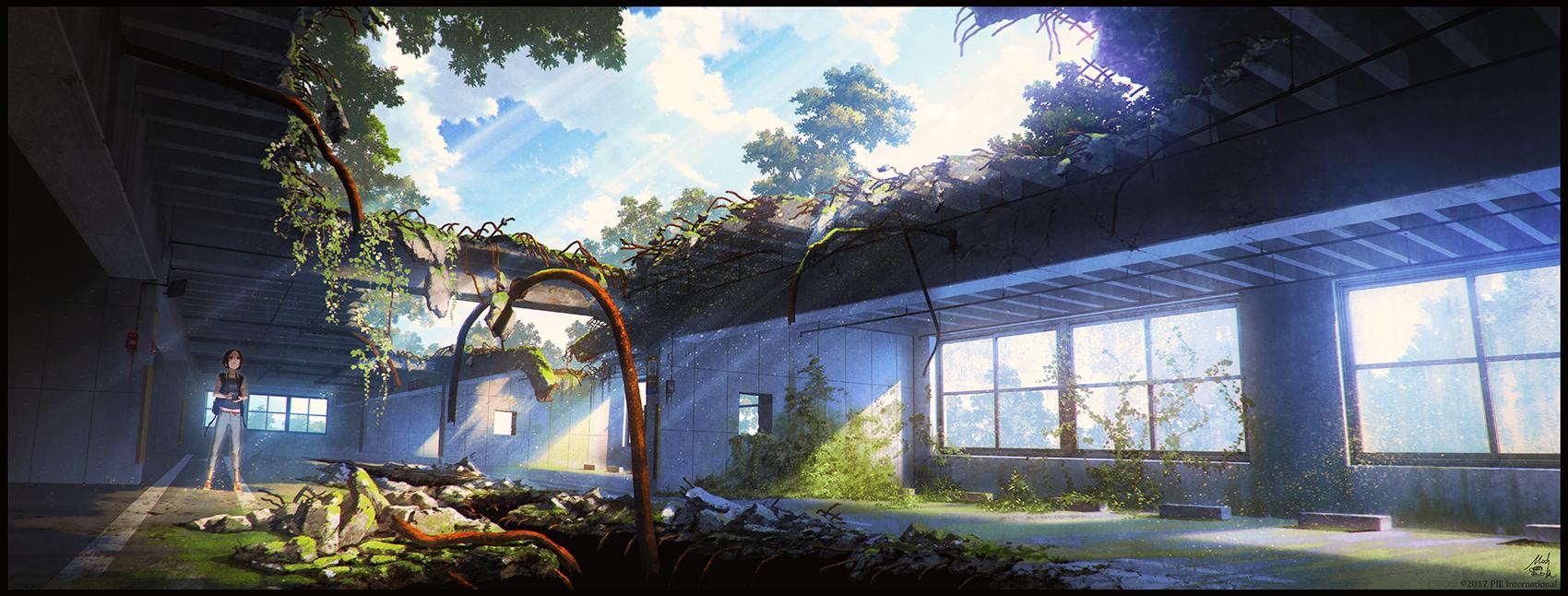 廃憶』廃墟をテーマにした風景イラスト集 - mocha booth - booth(同人誌