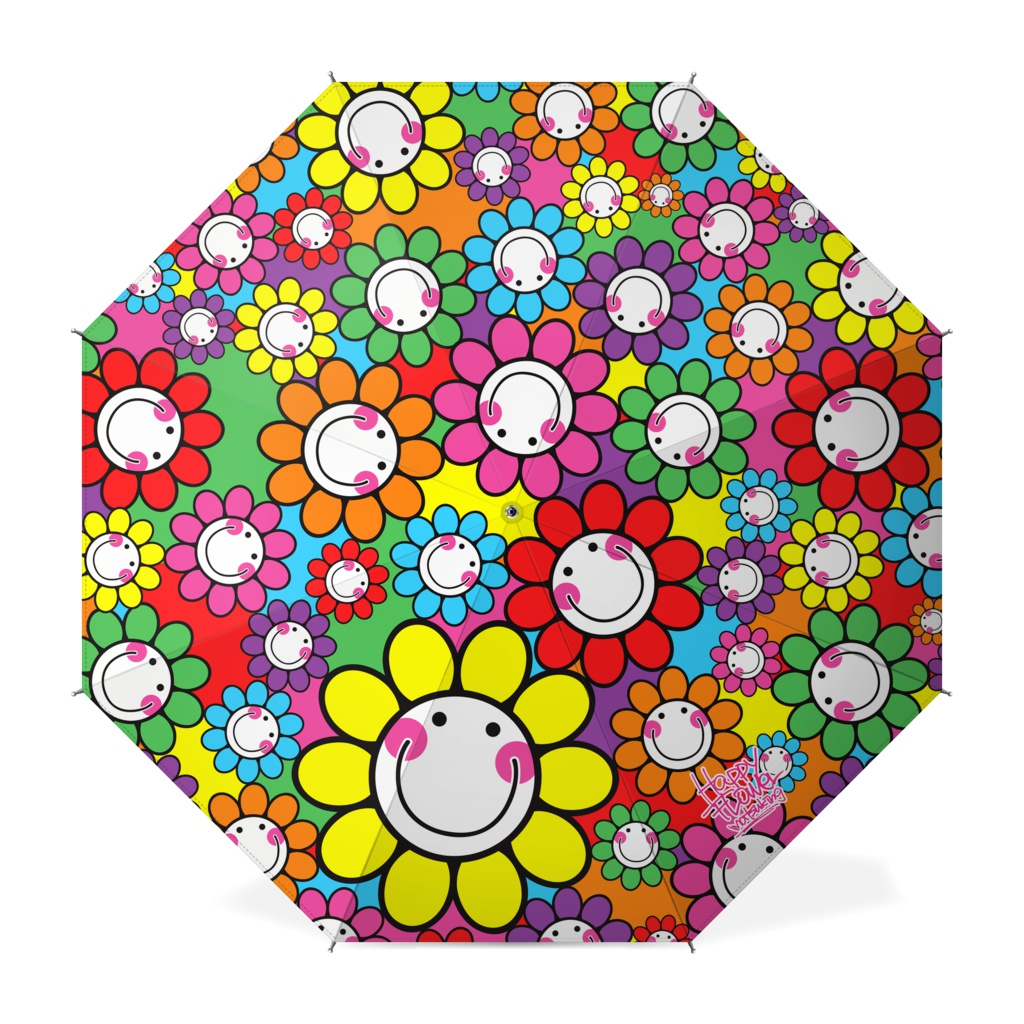 happy flower umbrella