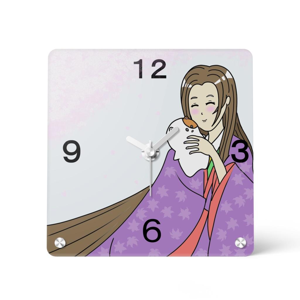 アクリル時計150×150mm お姫様とぬいぐるみ