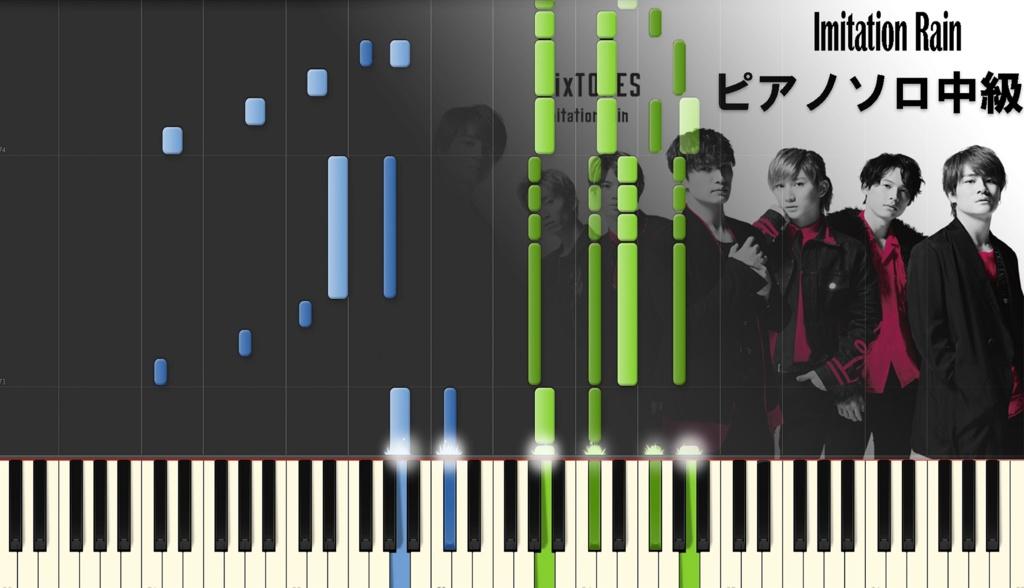 Imitation rain 【ピアノソロ中級】楽譜