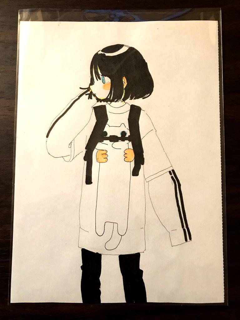 手描きイラスト ゆるねこTシャツ