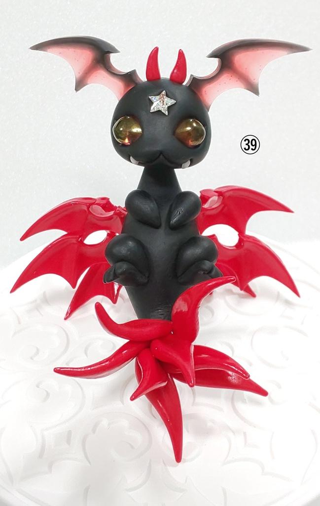 ㊴悪魔ドラゴン(仰向け)(レッド)