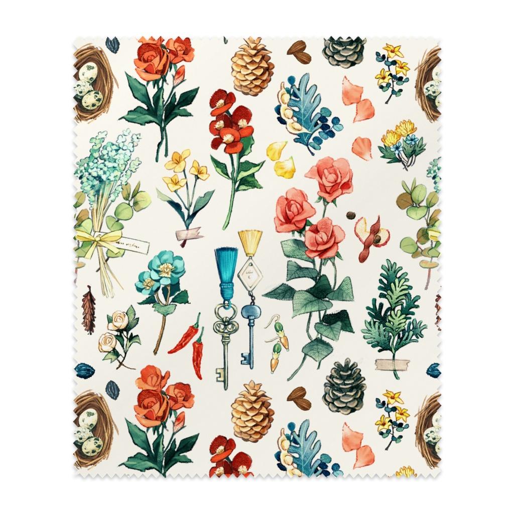 メガネ拭き「花と細々」
