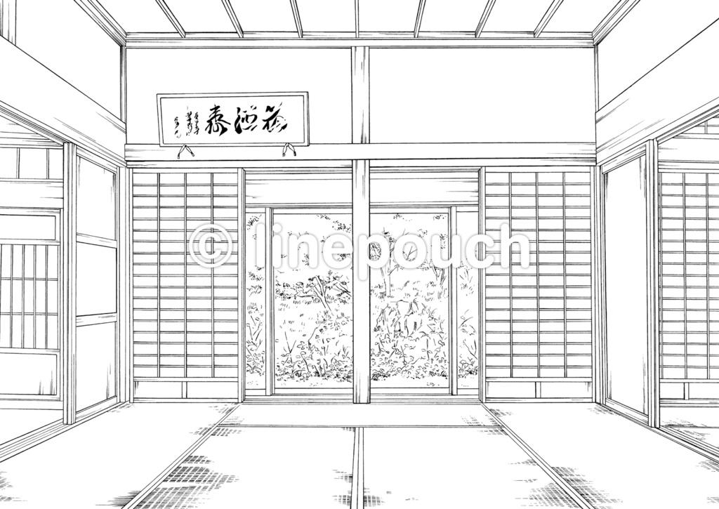 日本家屋の居間