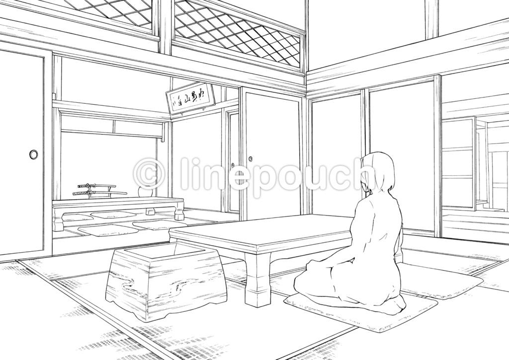 日本家屋の客間