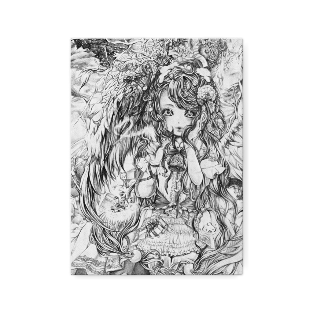 【印刷】「天使ちゃんのお手伝い」アートキャンバス