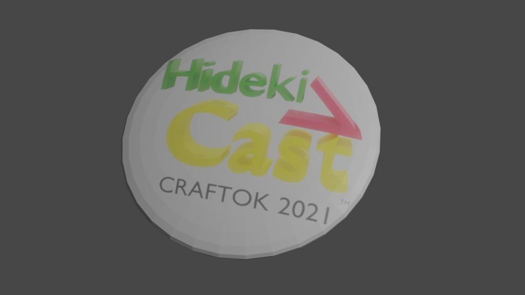 バーチャルクラフ特区出展記念HidekiVCast缶バッジ