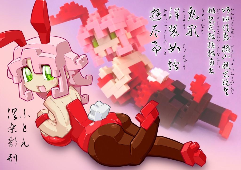 河田謹製 極小積木玩具 非公式組換指南書 兎形洋装女給 遊尽事(写真集付き)