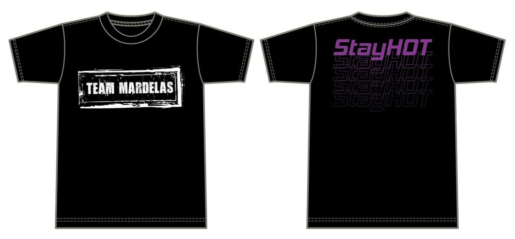 "【SALE商品】Team Mardelas ""Stay HOT"" T-shirt  Mardelas color (Purple)"