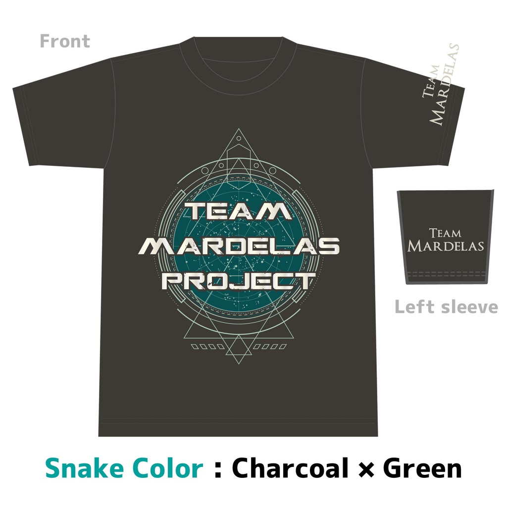 【SALE商品】Team Mardelas Project T-Shirt Snake color (蛇石モデル)