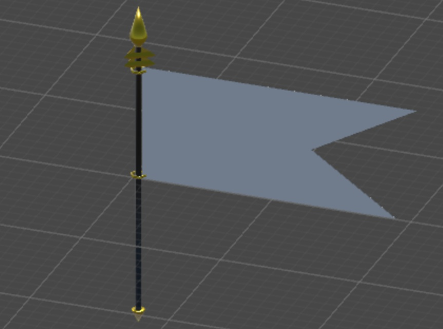 旗 3Dモデル