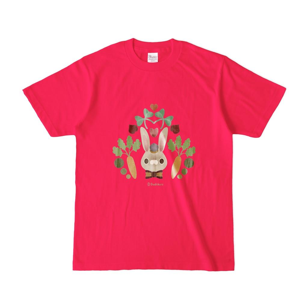 うさちゃんTシャツ。(ホットピンク)