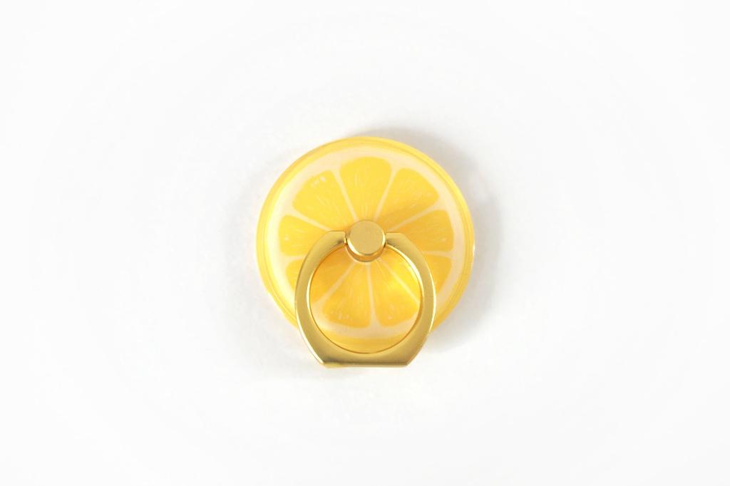 【即納・送料無料】スマホリング レモン