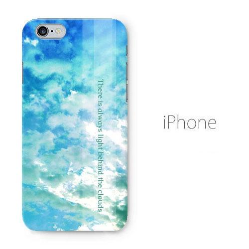 【送料無料】雲の向こうはいつも青空 iPhoneケース(ハードケース全面プリント)