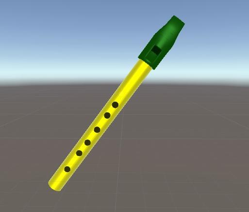 ティンホイッスル D管 3Dモデル - なぎのおもちゃ屋さん - BOOTH