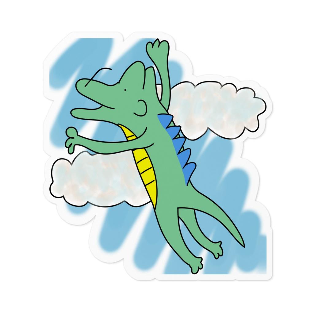 青空のガラゴン空を飛ぶ