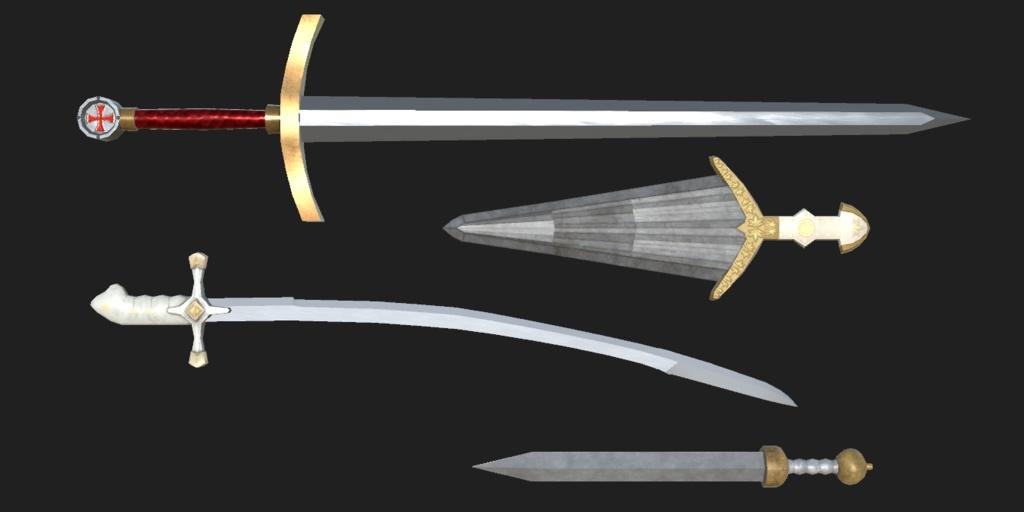 VRchat向け『刀剣セット01』