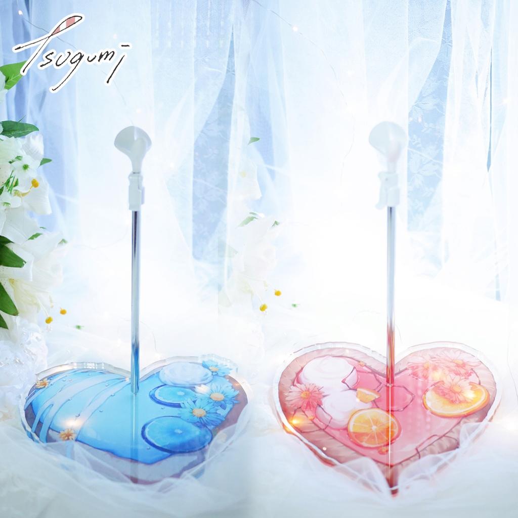 籠鶇TGI ★《ピンクの夢と青い菊》DD / MDD スタンド