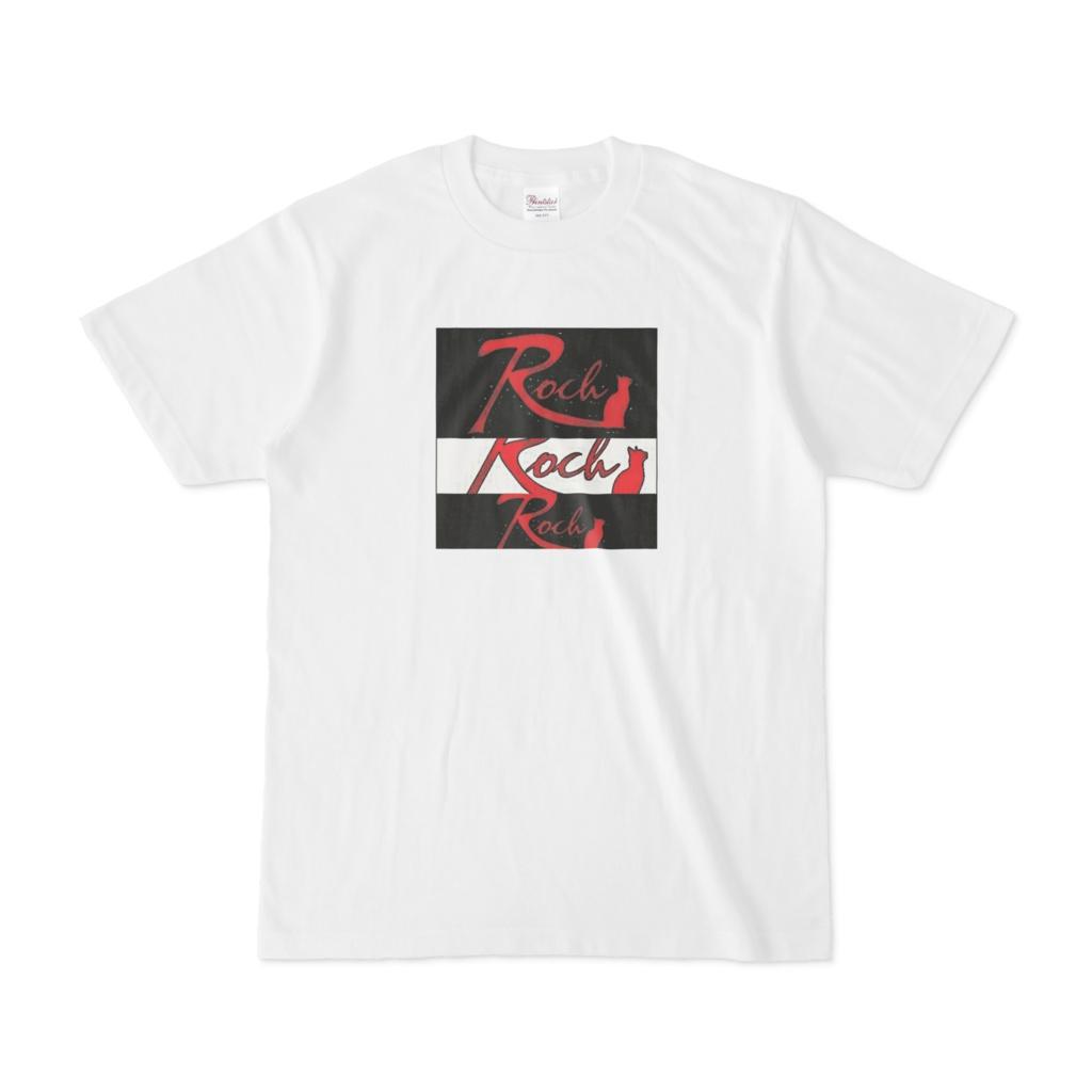 Rock cat 黒赤 Tシャツ