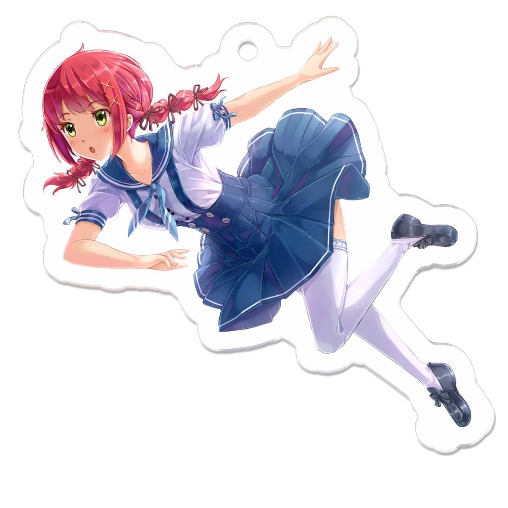 「セーラー赤髪ガール」アクリルキーホルダー