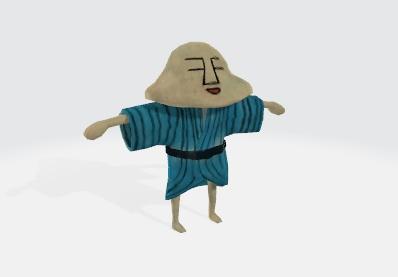 人面 3Dモデル
