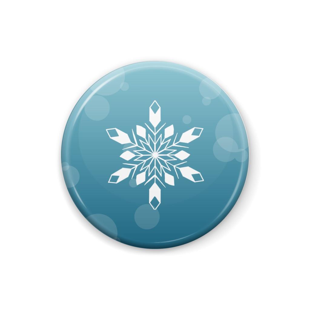 缶バッジ 雪の結晶ー単体 F