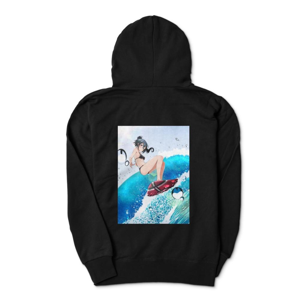 サーフィン女子♪ジップアップパーカー