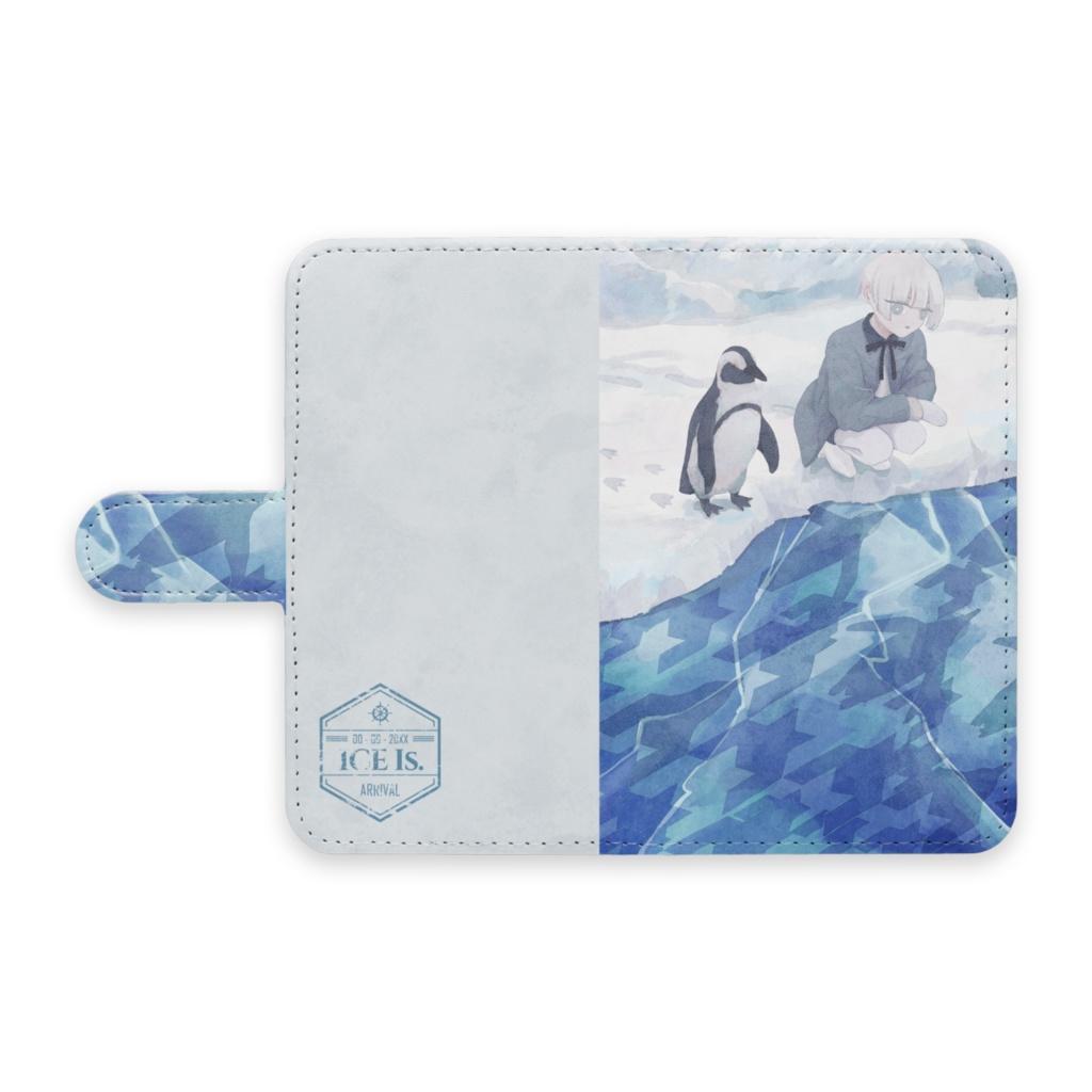 手帳型Androidケース - 氷の下の行進