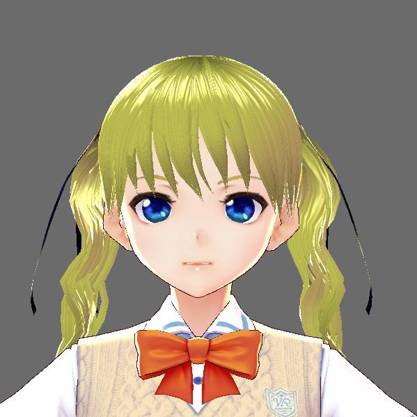 【無料あり】VRoidヘアプリセット・リボンツインテール