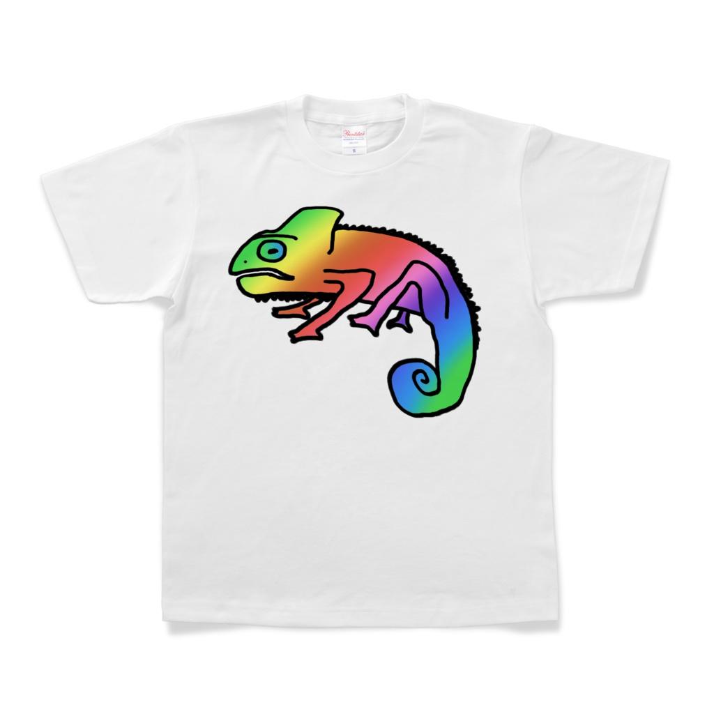 Tシャツ(カメレオン - 避役/変色龍/変色蜥蜴 - Chameleon)