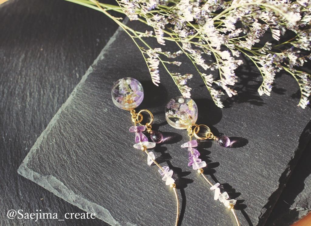 鬼殺隊士の耳飾り -藤の花-