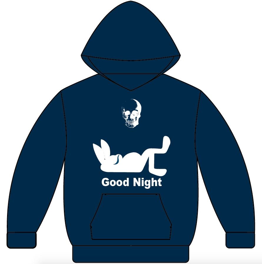 オリジナルパーカー『Good Night(ネイビー)』【受注生産12月31日まで】