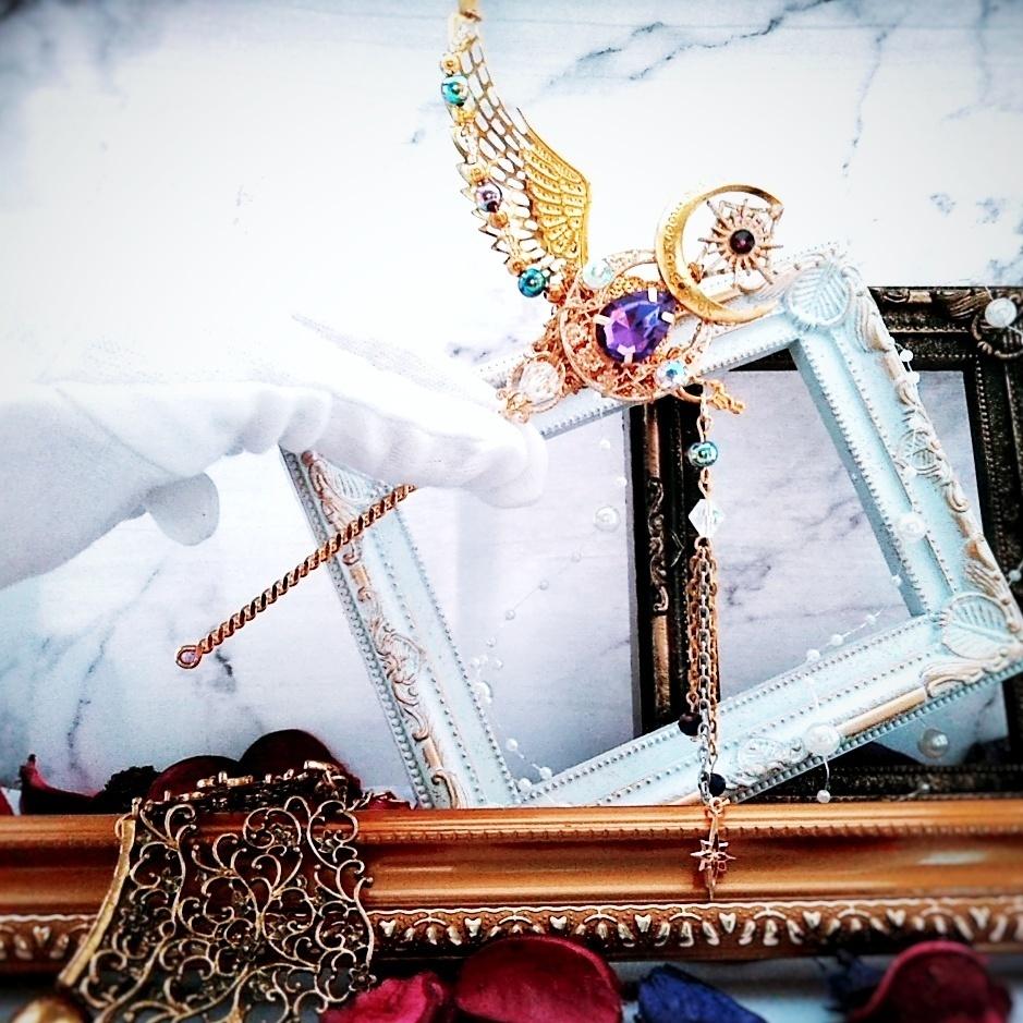 魔法の杖 かんざし パープル 上級魔法 ハイウィザード専用 闇属性 ダークロッド ドール小物 303