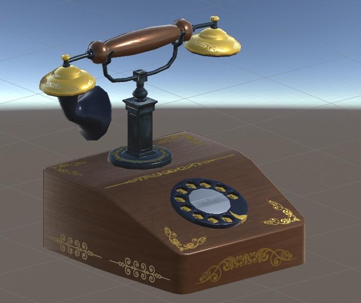 アンティーク調の電話機